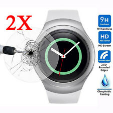 2 X great Glass Screen Protector for Samsung Galaxy Gear S2 Gear Smart Watch