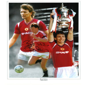 Bryan Robson Signed Photo Montage