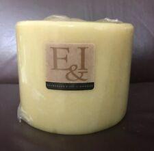 "NEW Hanna's Evergreen & Ivy E & I Large 4 Wick French Vanilla Candle 6"" X 5"""