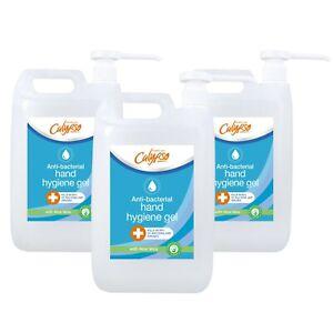 Calypso Anti-Bacterial Hand Sanitiser Gel | 70% Alcohol | 5litre Box of 3