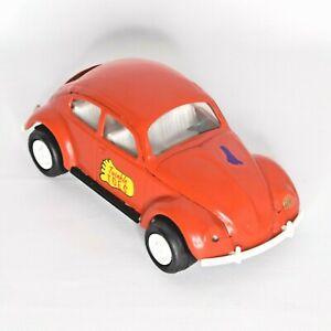 Vintage Tonka Volkswagen Beetle Bug Twinkle Toes Orange #52680 Pressed Steel VW