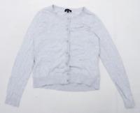 New Look Womens Size 14 Cotton Grey Cardigan (Regular)
