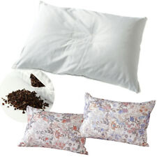 Buckwheat Pillow Washable with Floral Cover, High density anti-mite function JPN