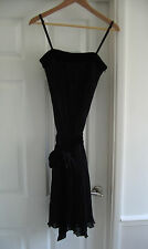 DEBENHAMS SIZE 8 VELVET TRIMMED, PLEATED, 3 WAY DRESS - EX. CON. WORN ONLY ONCE!