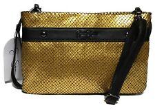 NWT Jessica Simpson Riahn Cross Body, Gold/Black, Adjustable/Detachable Strap