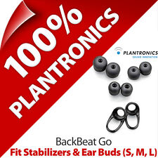Plantronics Fit Kit 2 x Stabilizers + Ear Gels Buds (S, M, L) for BackBeat Go