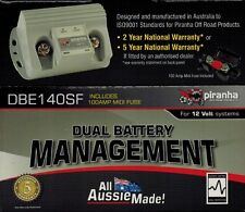 Piranha Dual Battery Management System Isolator DBE140SF & Fuse Suit All 4WD'S