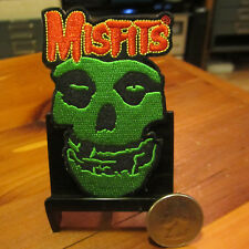 MISFITS Embroidered Sew On/Iron On Patch; Green Fiend; nos like new