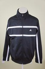 RUSSELL ATHLETIC Black White Track Jacket Full Zip Size Medium