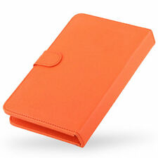 "7"" Universal Leather Stand Case Protective Keyboard Cover for Tablet PC Orange"