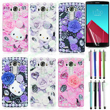For LG G4, G5 Luxury 3D Handmade Fairy Tale Bling Crystal Colorful Case Cover