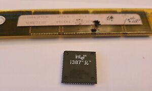 One (1) Intel i387 SX~N80387SL-SAMPLE~Untested and Unused~New Old Stock 1986