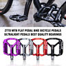 1 Pair  ZTTO MTB Flat Pedal Bike Bicycle Pedals Ultralight Pedals Bearing