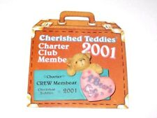 Cherished Teddies Club Membear 2001 Enesco Lapel Pin Pink Heart 824313 NEW