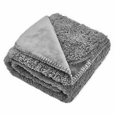 Waterproof Fluffy Fleece Dog Blanket Soft and Warm Pet Throw for Dogs & Cats, D