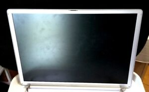 APPLE POWERBOOK G4 15 A1046 A1095 COMPLETE SCREEN DISPLAY ASSEMBLY MATTE