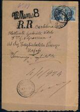 Italy- Kingdom 1923 25c Michetti pair on piece rare cancel CV UL 171215118
