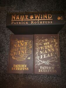 The Name of the Wind + The wise man's fear Patrick Rothfuss hardback book 1+2