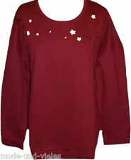 **NEU** Sheego Trend !! Shirt - Sweatshirt Gr. 46-48 (44/46) / bordeaux / 819697