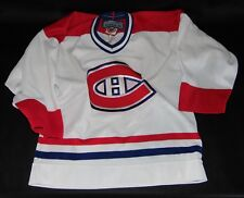 Vintage Youth Bauer Montreal Canadiens White Hockey Jersey S Small M Medium