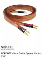 Nordost SuperFlatline Speaker Cables  2m / 6 feet banana great condition.