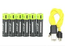 6 x 1.5V AA 1250mAh LiPo rechargeable lithium camera battery + USB charging line