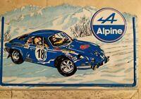 Insegna In Lamierino Vintage Alpine Auto Rally Garage Style