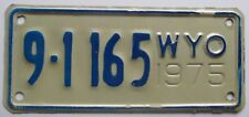 Wyoming 1975 BIG HORN COUNTY MOTORCYCLE License Plate SUPERB QUALITY # 9-1165