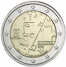 Portugal 2 Euro Gedenkmünze 2012 bfr. Kulturhauptstadt José de Guimaraes