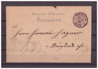 Deutsches Reich, Ganzsache P 10 Apolda nach Neustadt a. d. Orla 25.05.1881