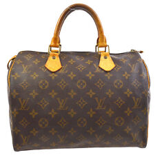 LOUIS VUITTON SPEEDY 30 HAND BAG MONOGRAM CANVAS LEATHER M41526 ai 32227