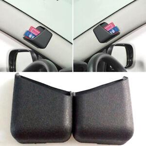 2pcs Universal Black Car Accessories Phone Organizer Storage Bag Box Holder df