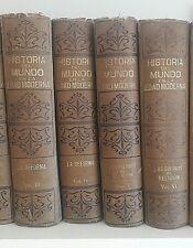 HISTORIA DEL MUNDO EN LA EDAD MODERNA. 25 TOMOS.Ed. Sopena.1918. Univ.Cambridge
