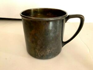 """VINTAGE ONEIDA SILVERSMITHS CHILDS BABY SILVERPLATED CUP 2 3/8"""" TALL"""