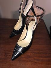 Women's Ralph Lauren Black With White Stitching & Pointed Toe Heels Size 11