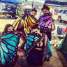 ALS_ Colorful Soft Fabric Butterfly Wings Tippet Stole Scarf Ladies Fairy Costum