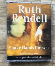 AUDIO BOOK Ruth Rendell SHAKE HANDS FOR EVER read by George Baker on 2 cass
