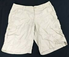 Columbia Womens 10 Hiking Shorts Beige Nylon Casual Cargo Outdoors  AW