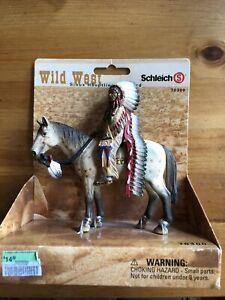 New Schleich Wild West Sioux Chief On Horse 70300 NIB Retired/Rare