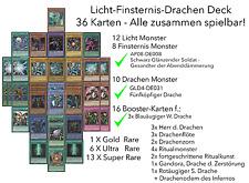 36 TOP Yugioh Karten Licht Finsternis Fünfköpfiger GLD4-DE031 weißer Drache Deck