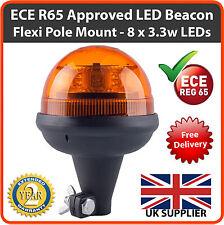 ECE R 65 Lámpara Led Din Polo 12/24v de advertencia de parpadeo luz estroboscópica banderillero ámbar