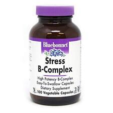 Bluebonnet Stress B-Complex Vegetable Capsules, 100 Count