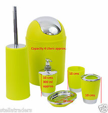 6 piece pc Bathroom Accessories Set Bin Soap Dispenser Toothbrush Tumbler Holder