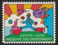 Scott 1527- Preserve the Environment, World's Fair- MNH 1974- 10c mint stamp