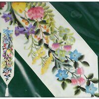 Elsa Williams FLORAL FESTIVE BELLPULL Crewel Kit Michael A LeClair Linen Fabric