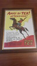 Poster locandina Tex Willer  - Galep - anni 50 riproduzione da originale