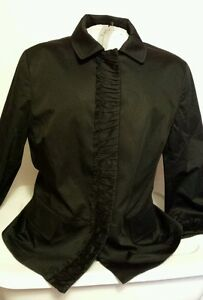 NWT Talbots Women's Grace Fit Solid Black 3/4 Sleeve Jacket Size 14 $149 Retail