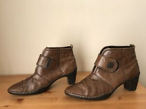 Josef Seibe Womens sz 40/ US 9 l brown leather ankle boots shoes