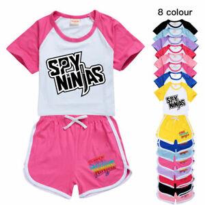 SPY NINJAS CWC Inspired Kids T Shirt Shorts Youtuber Casual Tracksuit Sportwear