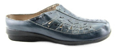 ARRAY Women's Blue Leather Clog Mule - Size 6.5 Medium - NEW!